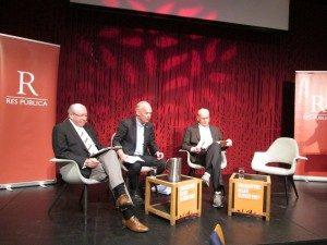Martin Kolberg (Ap), Per Olaf Lundteigen (Sp) og Michael Tetzschner (H).